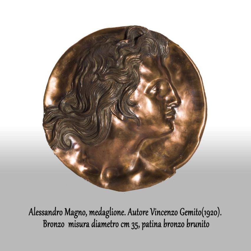 Alessandro-Magno-medaglione-Vincenzo-Gemito1920